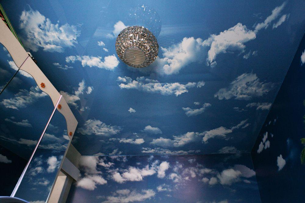 натяжные потолки фотопечать облака имеем сегодняшний день